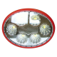 PHARE DE TRAVAIL LED OPTIQUE PC BLANC 137x107 12/24 V