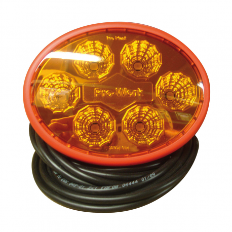 PHARE DE TRAVAIL LED ORANGE 137x107mm 12/24 V
