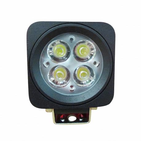 PHARE DE TRAVAIL CARRÉ 4 LEDS ULTRA COMPACT 10/30 V