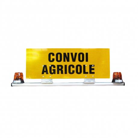 BARRE + PANNEAU CONVOI AGRICOLE DOUBLE FACE CLASSE B + 2 GYRO 12 V