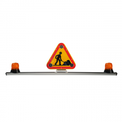 BARRE SANS FIXATIONS + 1 TRIANGLE 500mm CLASSE B / RELEVAGE ÉLECTRIQUE + 2 GYRO LED 12/24 V