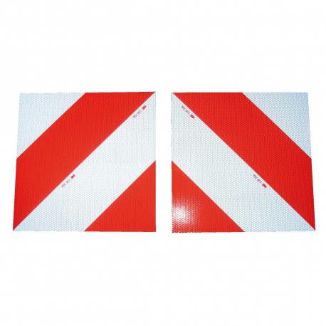 KIT 2 PANNEAUX CONVOI EXCEPTIONNEL CLASSE B (G+D) 282x282x1mm