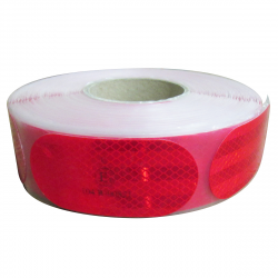 FILM 3M MICROPRISMATIQUE ROUGE POUR SUPPORT SOUPLE 106mm 50m x 55mm