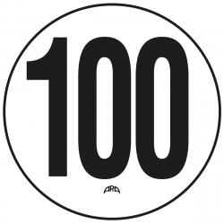 DISQUE DE LIMITATION DE VITESSE ADHÉSIF 100 km/h
