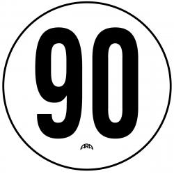 DISQUE PVC RIGIDE LIMITATION DE VITESSE 90 KM/H