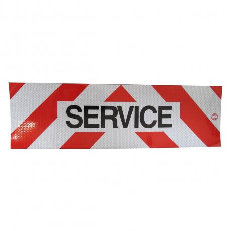 PANNEAU DE SERVICE ADHÉSIF 500x150mm CLASSE B