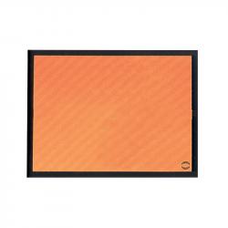 RECTANGLE EN ALUMINUM IDENTIFICATION ORANGE 400x300x1mm