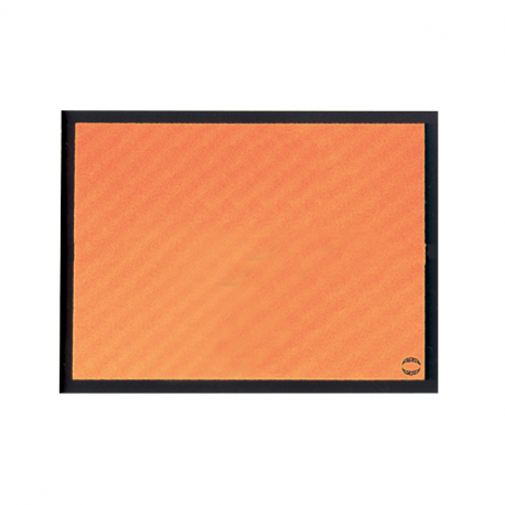 RECTANGLE EN ALUMINUM IDENTIFICATION ORANGE 400x300x1mm