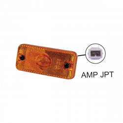 FEU DE POSITION LATÉRAL ORANGE + CATADIOPTRE + CONNECTEUR AMP JPT