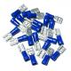 100 COSSES BLEUES PLATES FEMELLES - SECTION 1,04-2,63mm²