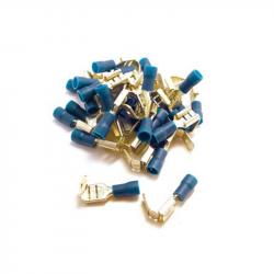 100 COSSES PLATES FEMELLES À LANGUETTE BLEUE - SECTION CÂBLE : 1,6-2,5mm²