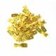 100 COSSES MÂLE 6,3 NUES PLATES EN LAITON BRUT - SECTION CÂBLE : 1-2,5mm²