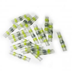 25 CONNECTEURS JAUNES BOUT-À-BOUT THERMO-RÉTRACTABLES À SOUDER - SECTION 4 à 6 mm²