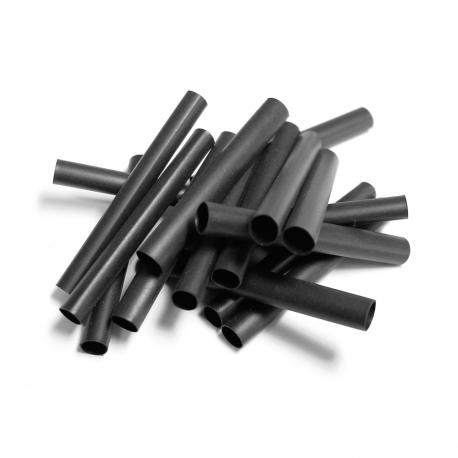 100 MANCHONS NOIRS THERMO-RÉTRACTABLES - DIAMÈTRE : 12,7 mm