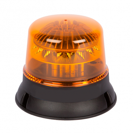 GYROPHARE LED ORANGE FLASHANT PROFIL BAS 3 POINTS 12/24V