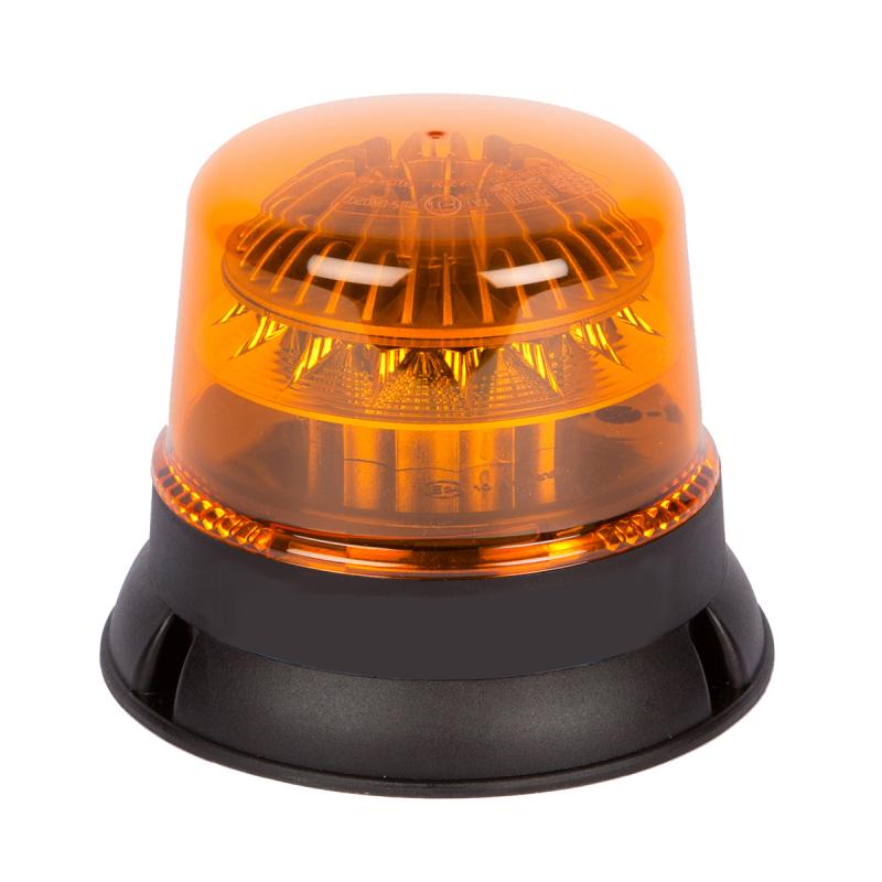 gyrophare led orange flashant profil bas 3 points 12 24v. Black Bedroom Furniture Sets. Home Design Ideas