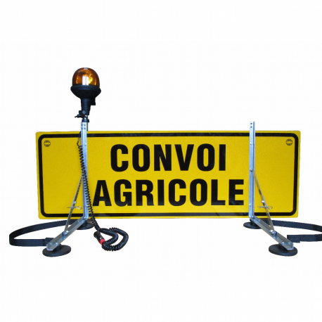 CONVOI AGRI DOUBLE FACE + FIXATIONS MAGNÉTIQUES + GYRO 12 V SUR TIGE