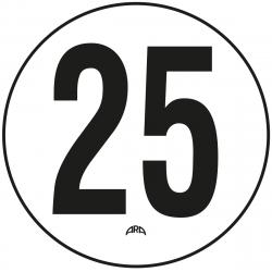 DISQUE DE LIMITATION DE VITESSE 25 KM/H ADHÉSIF