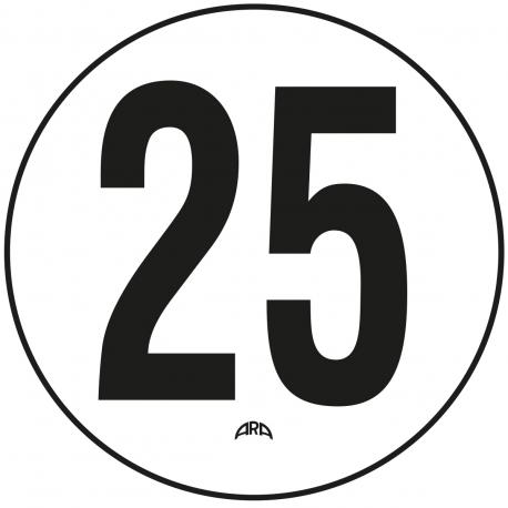 DISQUE DE LIMITATION DE VITESSE 25 KM/H EN PVC RIGIDE