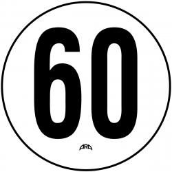 DISQUE DE LIMITATION DE VITESSE 60 KM/H EN PVC RIGIDE