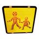 PANNEAU TRANSPORT ENFANT LED 400X400