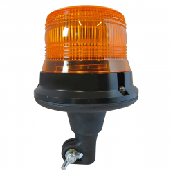 GYROPHARE LED ORANGE ROTATIF SUR HAMPE 12/24V