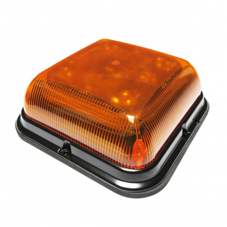 GYROPHARE DESIGN CARRE LED ORANGE 12/24V