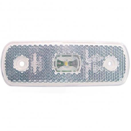 FEU LED BLANC 24 V A PLAQUER +