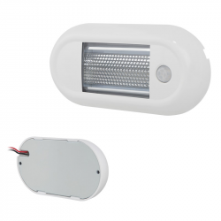 PLAFONNIER LED OVAL BLANC ULTRA FIN 1080LM AVEC INTERRUPTEUR INFRAROUGE