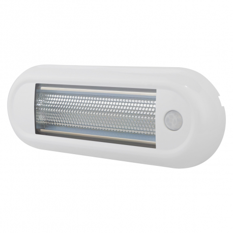 PLAFONNIER LED OVAL BLANC ULTRA FIN 1680LM AVEC INTERRRUPTEUR INFRAROUGE