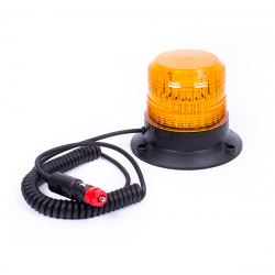 GYROPHARE LED ORANGE MAGNÉTIQUE FLASHANT 10/36V