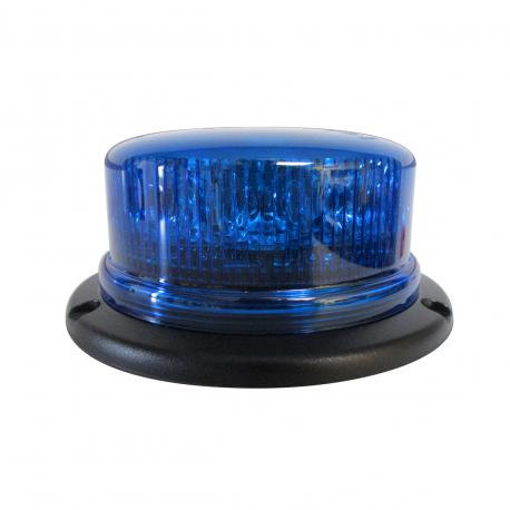 GYROPHARE LED BLEU À POSER 3 POINTS - ROTATIF R65