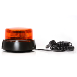 GYROPHARE LED ORANGE 12/24V MAGNÉTIQUE + VENTOUSE + SPI 3M