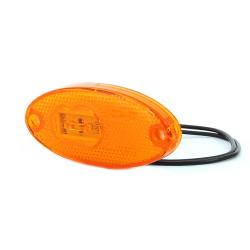 FEU SIDE-MAKER ORANGE LED À POSER 12/24 V - CABLÉ 200 MM
