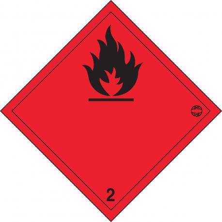 SYMBOLE ADH GAZ INFLAMMABLES N° 2.1