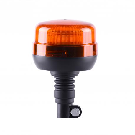GYROPHARE LED ORANGE FLASHANT SUR TIGE FLEXIBLE - 12/24V