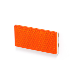 CATADIOPTRE RECTANGLE 105 X 48 ORANGE + FIXATION ADHÉSIVE