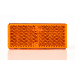 CATADIOPTRE RECTANGLE 96 X 42 ORANGE FIXATION ADHÉSIVE