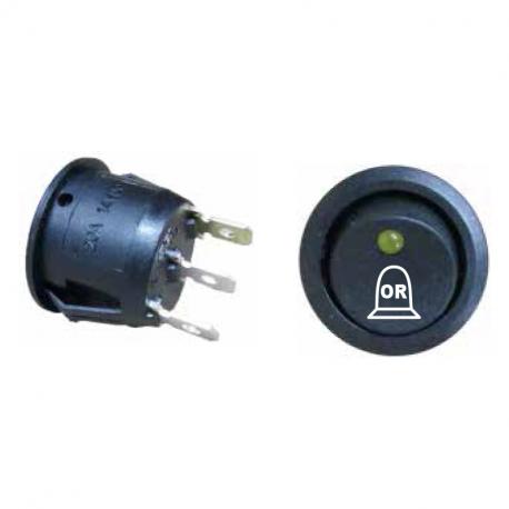 Interrupteur 2 positions à bascule 12V + marquage gyrophare OR