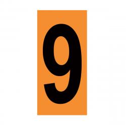 CHIFFRE EMBOUTI 9 142X80 MM