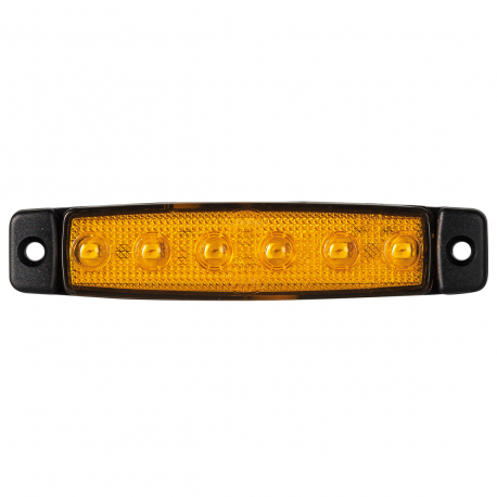 FEU SIDE MARKER ORANGE 6 LEDS 12V