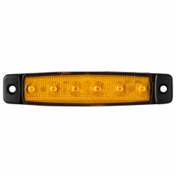 FEU SIDE MARKER ORANGE 6 LEDS 24V