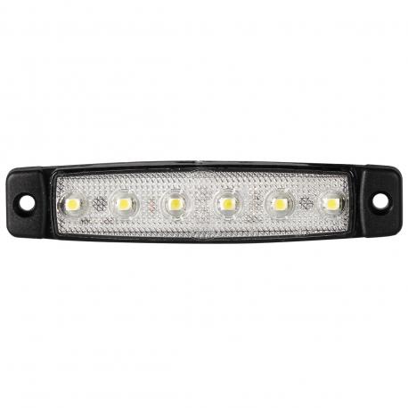 FEU DE POSITION AVANT BLANC 6 LEDS 12V