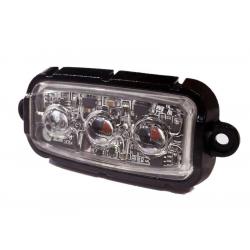 FEU FLASH 3 LEDS ORANGE R65 - 10/30V