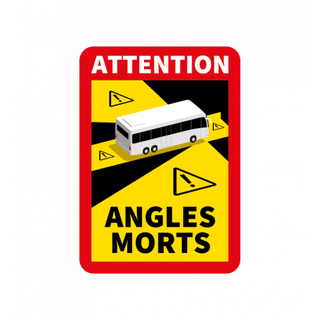 ADHÉSIF ANGLES MORTS BUS
