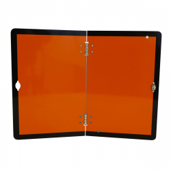 RECTANGLE GALVA ORANGE PLIABLE VERTICALEMENT