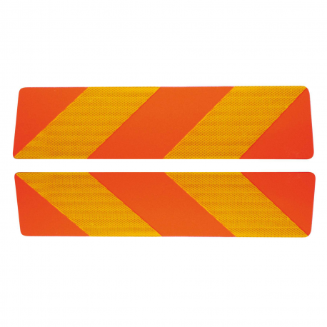 2 PLAQUES ALU BALISAGE CAMION 565x140 mm