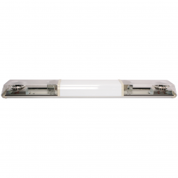 RAMPE LED ORANGE 1,37m 24 V 2 MODULES + CENTRE BLANC POUR MARQUAGE