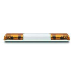 RAMPE HALOGÈNE PROFIL DESIGN ORANGE 1,20m 12 V + CENTRE BLANC + 2 GYROS