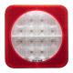 FEU G/D LED 12/24 V 3 FONCTIONS CARRÉ + ÉCLAIREUR DE PLAQUE + CATADIOPTRE